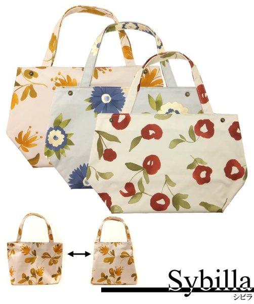 画像1: シビラ sybilla トートバッグ(小)  メール便不可 ネコポス不可 花柄 トート 可愛い キュート (1)